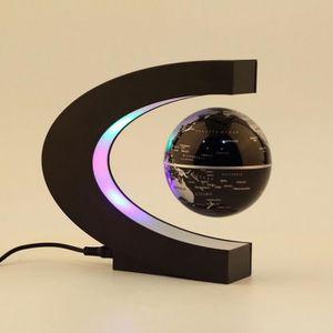 LAMPE A POSER Carte du monde LED - Forme C - Lévitation magnétiq