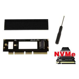 CARTE CONTROLEUR Carte Controleur PCIe 16x pour SSD M2 NVMe - Compa