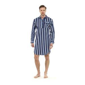PYJAMA Chemise de Pyjama Moderne à Rayures pour Homme