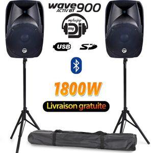 PACK SONO Pack 2 enceintes amplifiées MyDj WAVE900 38cm/15