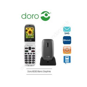 Téléphone portable Téléphone Portable Doro  6030 Graphite Blanc