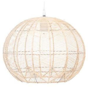 LUSTRE ET SUSPENSION Suspension design en rotin et fer coloris beige -