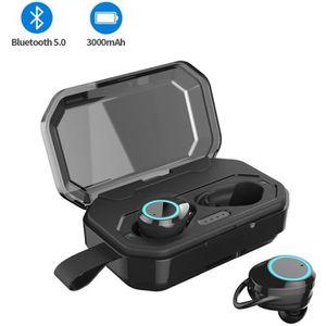 OREILLETTE BLUETOOTH Écouteurs Bluetooth V5.0 Sans Fil,4000mAh stéréo M