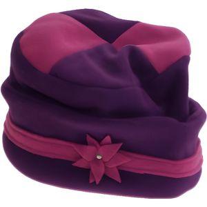 BONNET - CAGOULE Bonnet - Tambourin - Femme - Bicolore violet/rose