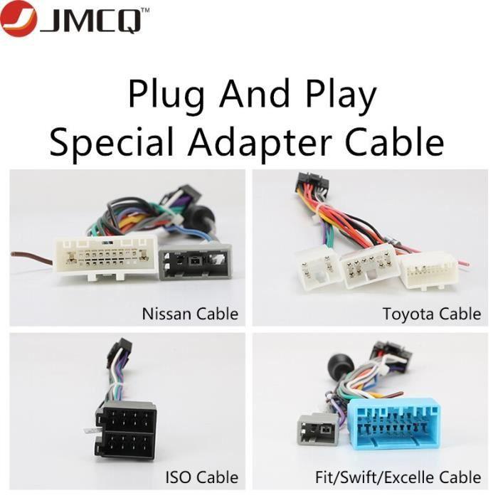 Connecteur d'adaptateur Android, accessoires d'autoradio, câble Plug and Play, pour nissan Toyota Volkswagen Honda Hyundai [58D80A0]