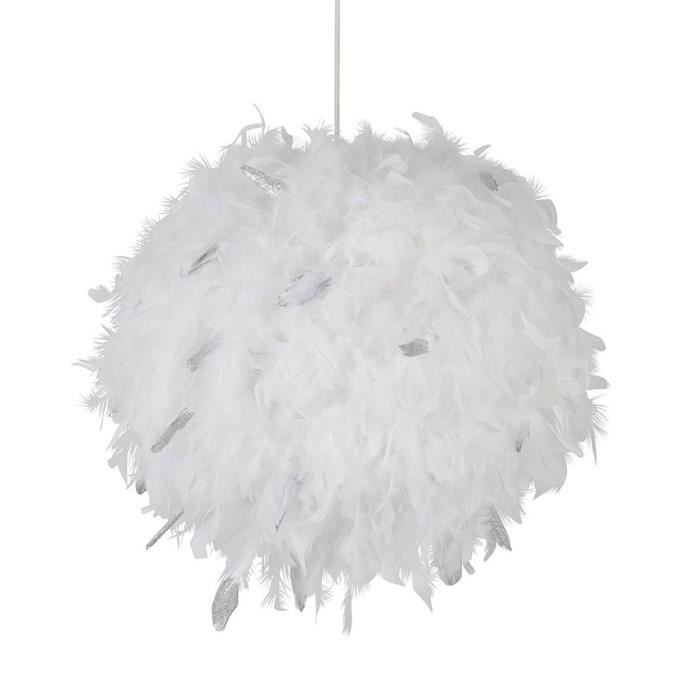 LUSTRE ET SUSPENSION Lustre - suspension Kokot paillettes E27 15W blanc