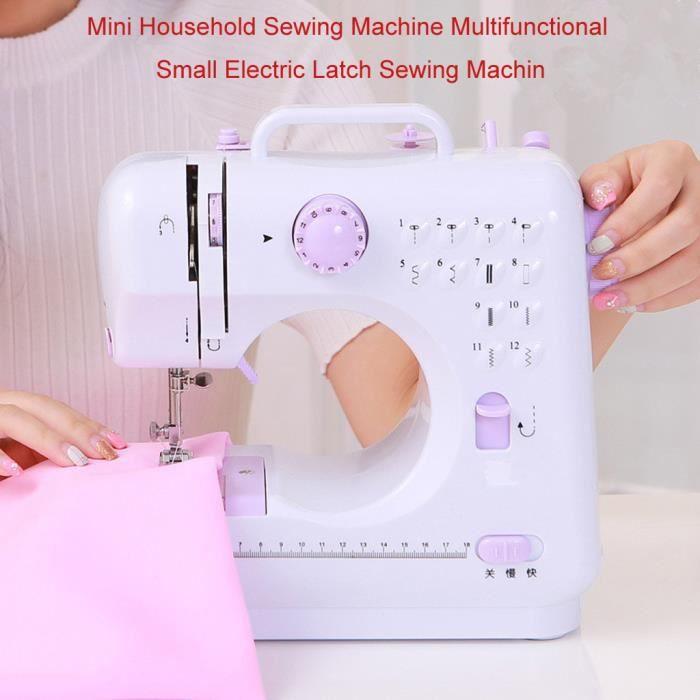 Petite machine à coudre domestique Machine à coudre multifonctionnelle à verrouillage électrique US ahuhaok 201