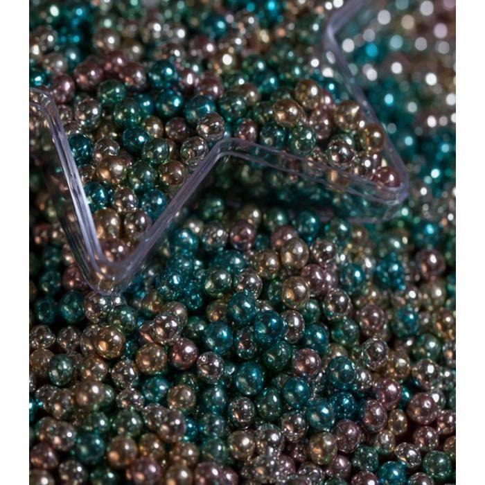 100 g Perles de sucre pour dragées multicolore