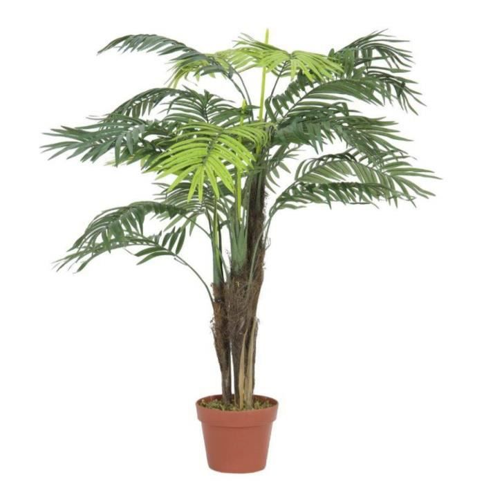 Palmier artificiel Areca en pot, 13 palmes, 110 cm, extérieur - Palmier en pot - Faux palmier