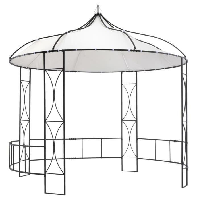 Tonnelle de Jardin Barnum - Belvédère 300 x 290 cm Blanc Rond