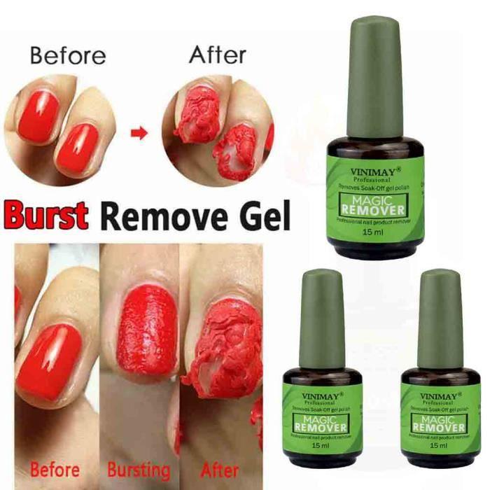 NEW Burst Magic Nail Polish Remove Gel Acrylic Clean Degreaser 45ml_C3077