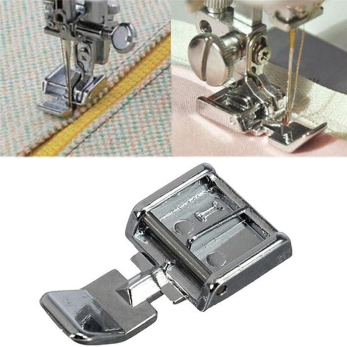 MACHINE A COUDRE,1 pièces 2 côtés métal fermeture éclair pied de biche pieds pour Snap on Machine à coudre accessoire de couture #C
