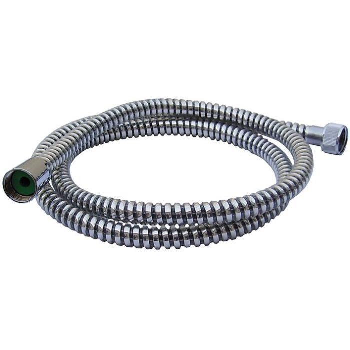Flexible de douche Espiroflex PVC 1.75m - noir, argent