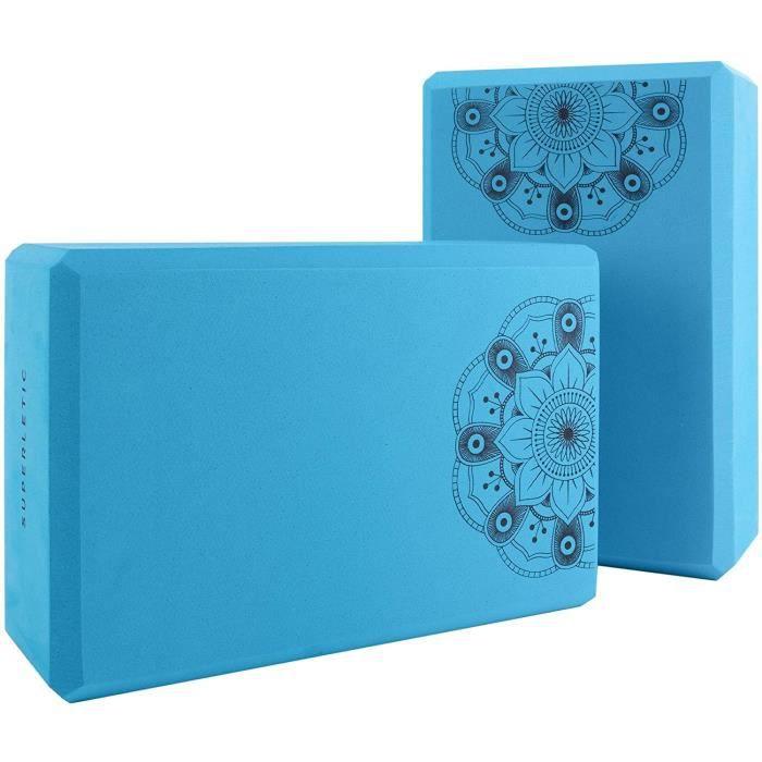 SUPERLETIC Bloc de Yoga Essential I Ensemble de 2 Blocs de Yoga I Blocs de Yoga pour Soutenir Les asanas I Accessoires de Yoga A37