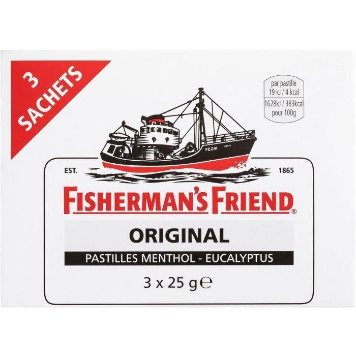 FISHERMAN'S FRIEND Bonbon sucré menthol-eucalyptus - 3x 25g