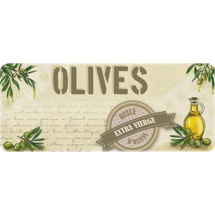 Tapis de cuisine - 50x120 cm - Huile d'olives