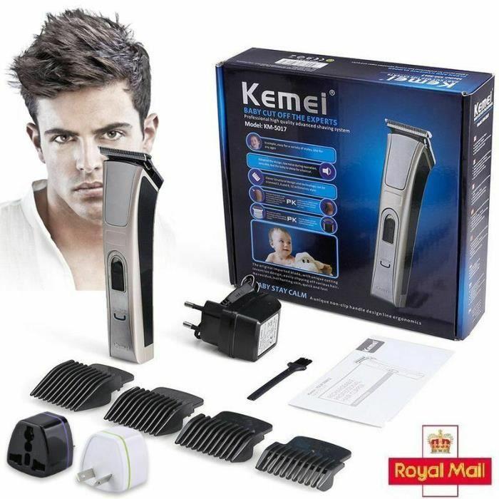 Kemei Tondeuse Cheveux Professionnelle Tondeuse Barbe Electrique Sans Fil Rechargeable pour Enfants Adultes, glace sens sans soudure