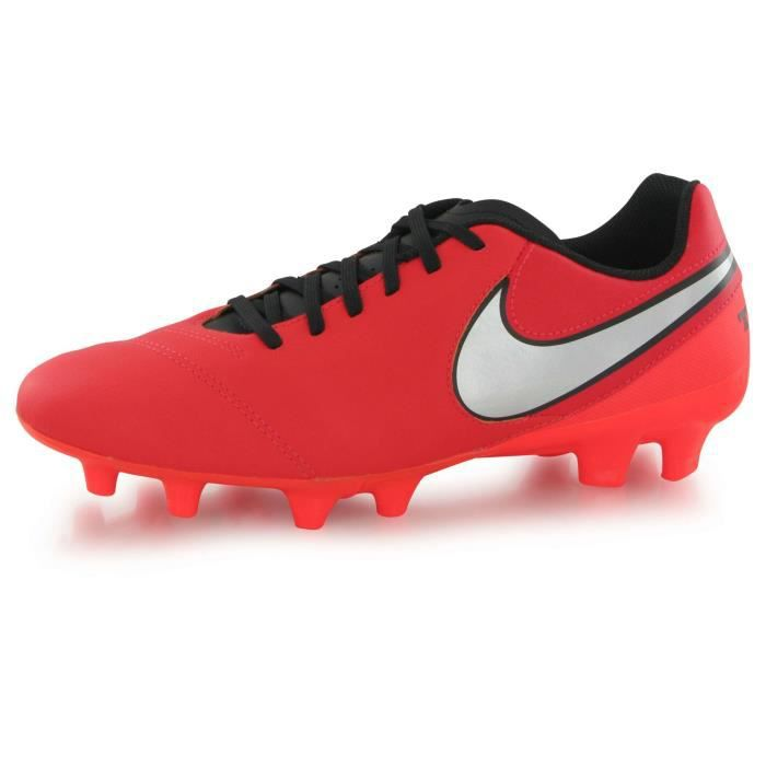 Nike Tiempo Genio 2 Leather Fg rouge, chaussures de football homme