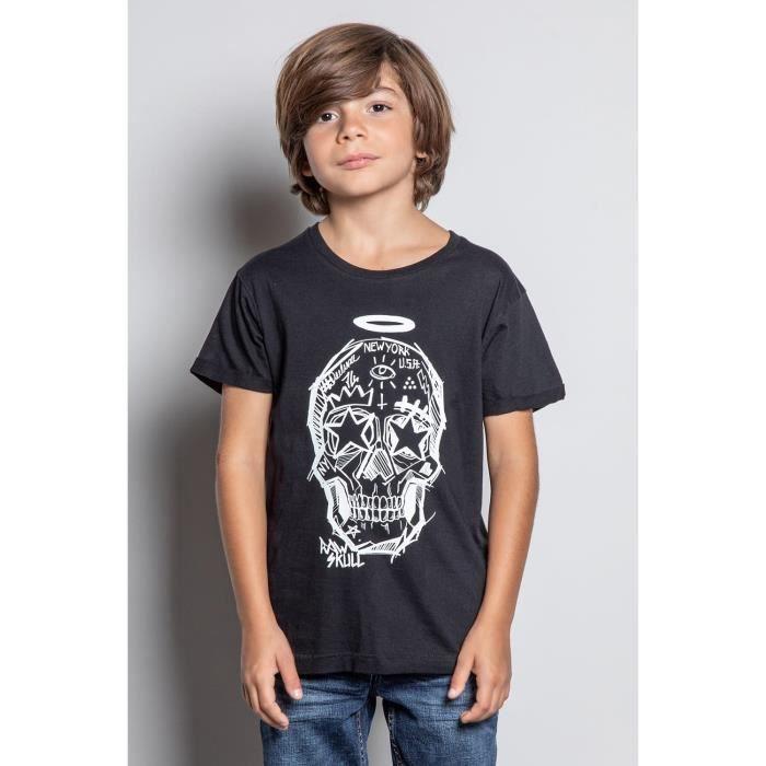 DEELUXE T-shirt avec tête de mort MADNESS Black