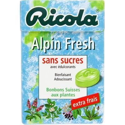 RICOLA Bonbons sans sucre aux plantes alpin fresh - 50 g