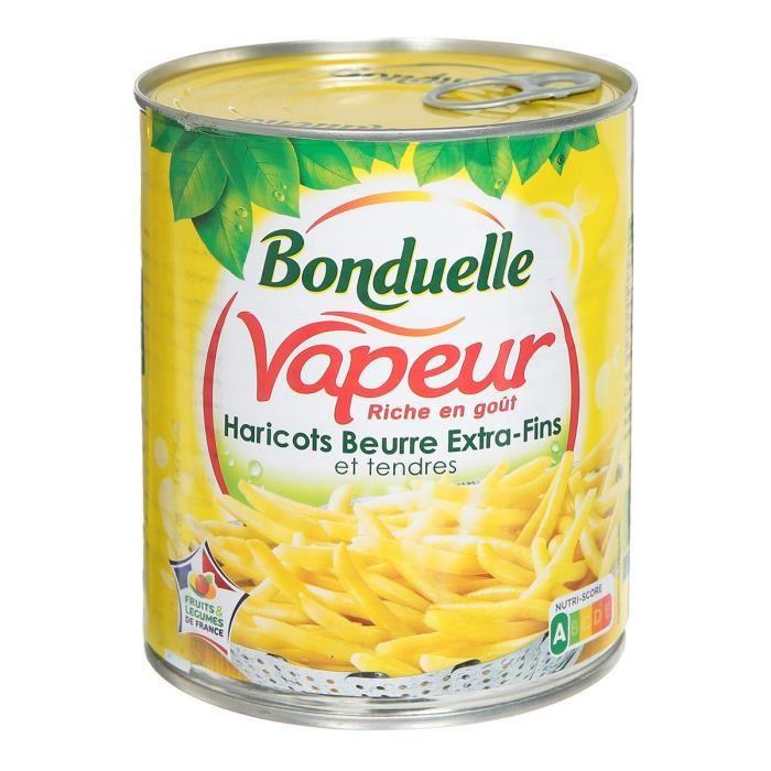 Haricot beurre extra-fins 4 / 4 Cuits à la vapeur - 590 g