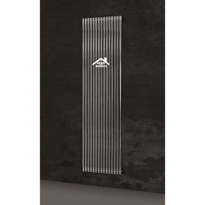 Radiateur design vertical calida 50x180 cm en chrome for Radiateur seche serviette design