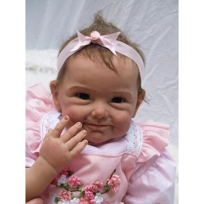 POUPÉE Réaliste bébé reborn fille poupée enracinée longs