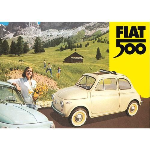 grande plaque metal fiat 500 achat vente affiche m tal cdiscount. Black Bedroom Furniture Sets. Home Design Ideas