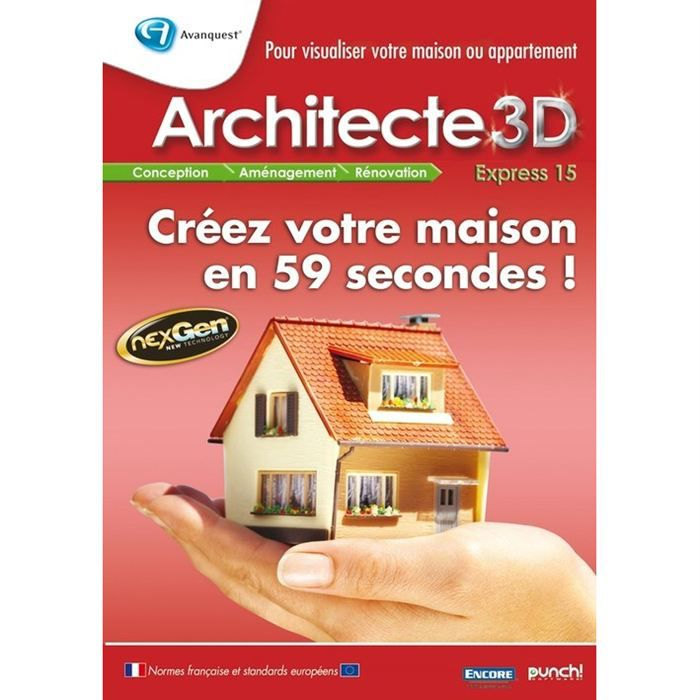 avanquest architecte 3d express 15 prix pas cher cdiscount. Black Bedroom Furniture Sets. Home Design Ideas