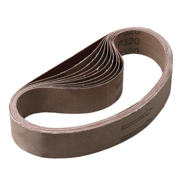 Silverline Oxyde d/'aluminium rouleau de 10 m Grain 80 BRICOLAGE Outil électrique Accessoires
