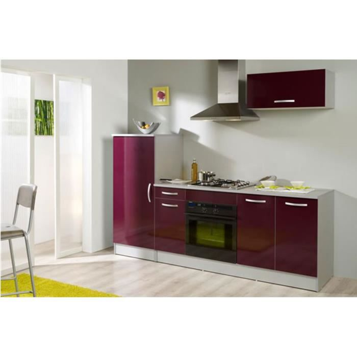 cuisine complete de 2m40 couleur aubergine marx achat vente cuisine compl te cuisine. Black Bedroom Furniture Sets. Home Design Ideas
