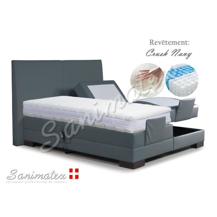 lit electrique boxspring 140x190 fujiyama amazonia espresso achat vente lit complet lit. Black Bedroom Furniture Sets. Home Design Ideas