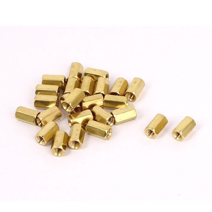 Sourcingmap/® M4/x 60/mm filet/é femelle laiton Hex Boulons pour pilier Spacer /Écrou 10/pcs