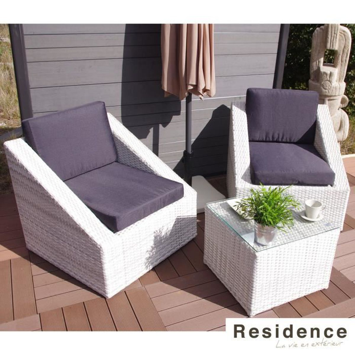 set balcon club oceane achat vente salon de jardin set balcon club oceane cdiscount. Black Bedroom Furniture Sets. Home Design Ideas