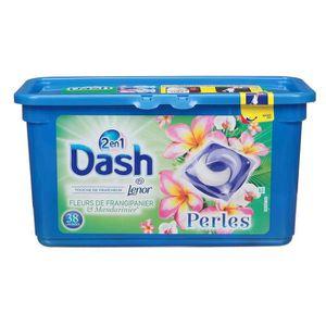 LESSIVE DASH Lessive 2en1 Perle Frangipanier Capsules - x3