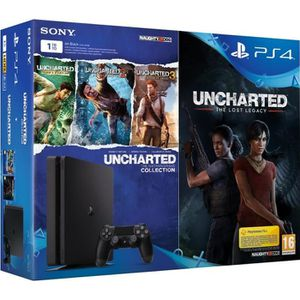 CONSOLE PS4 Nouvelle PS4 1 To + 4 jeux : Uncharted The Lost Le