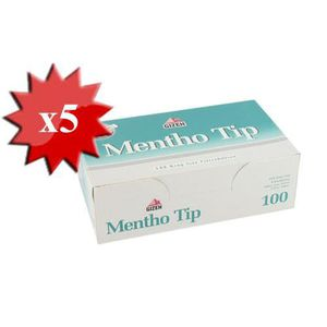 TUBE À CIGARETTE 500 Tubes vide MENTHOL pour Cigarette Tubeuse