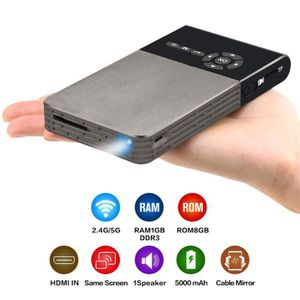 CÂBLE TV - VIDÉO - SON Mini projecteur DLP intelligent Android WiFi Bluet