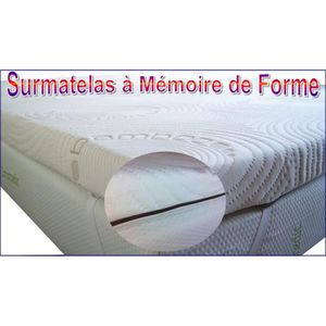 surmatelas memoire de forme 180x200 contre mal de dos. Black Bedroom Furniture Sets. Home Design Ideas