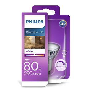 AMPOULE - LED Philips ampoule LED GU10 7W Equivalent 80W Blanc C