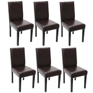 lot de 6 chaises marrons achat vente lot de 6 chaises marrons pas cher cdiscount. Black Bedroom Furniture Sets. Home Design Ideas