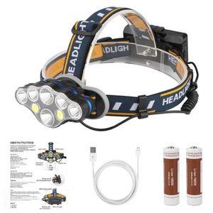 Lampe Frontale Puissante éclaire à 500 Mètres pour Course Marche Camping