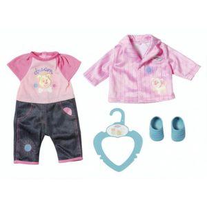 ACCESSOIRE POUPÉE vêtement de poupée petit kinderoutfit 36 cm rose /