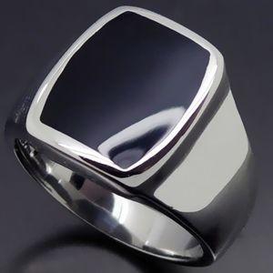 BAGUE - ANNEAU élégant émail en acier inoxydable bague bijoux de