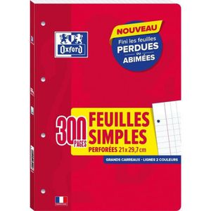 FEUILLET MOBILE OXFORD Feuilles mobiles A4 Seyes