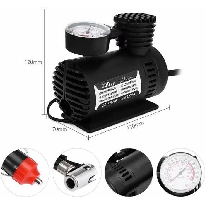 Portable 12 V Gonfleur de pompe à air Compresseur électrique pour pneus de voiture bateaux Camping Air Lit gonflables