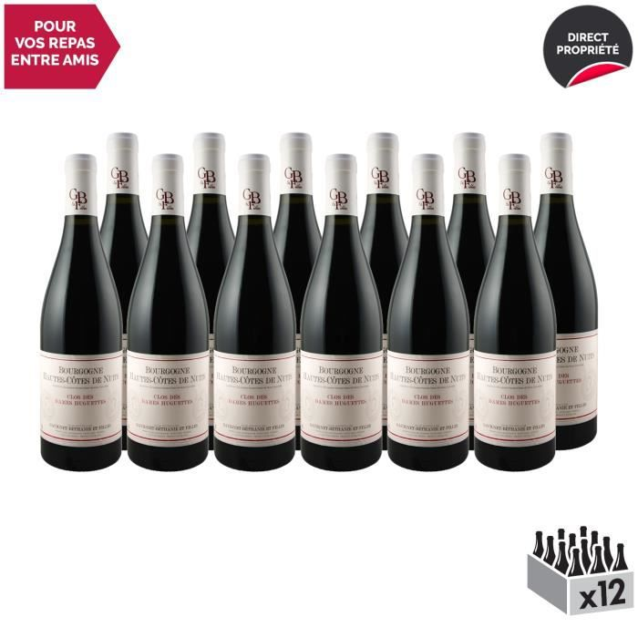 Bourgogne Hautes Côtes de Nuits Clos des Dames Huguettes Rouge 2018 - Lot de 12x75cl - Domaine Gavignet-Béthanie et Filles - Vin AOC