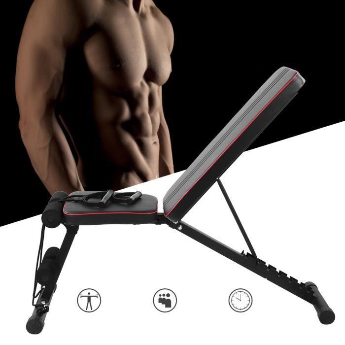 Home Gym Fitness Banc réglable inclinable pliable Déclin du poids Banc d'haltères d'entraînement -FOE