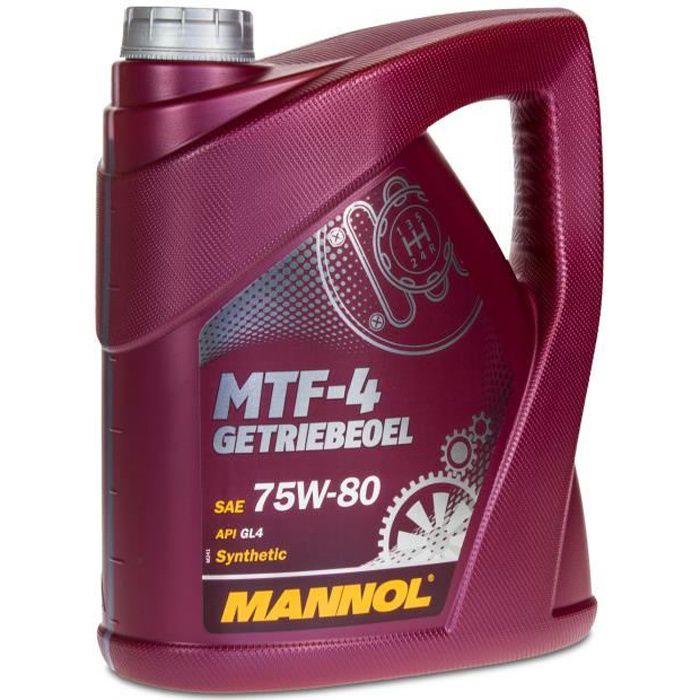 4 litres de MANNOL 75W-80 MTF-4 API GL-4 / GL4 / huile de transmission / liquide pour boîte de vitesses manuelle