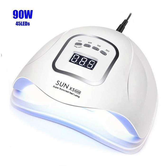 sèche-ongles -90W 45 pièces LED s SUNX5MAX UV lampe LED sèche-ongles pour tous les vernis à ...- Modèle: 90W SUNXMax - MIZJHGA01537